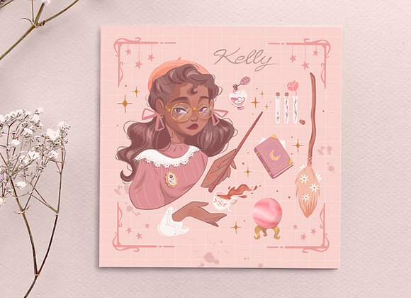 Square card - Kelly