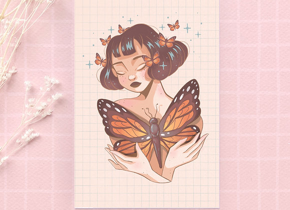 Carte postale - Butterflies friend