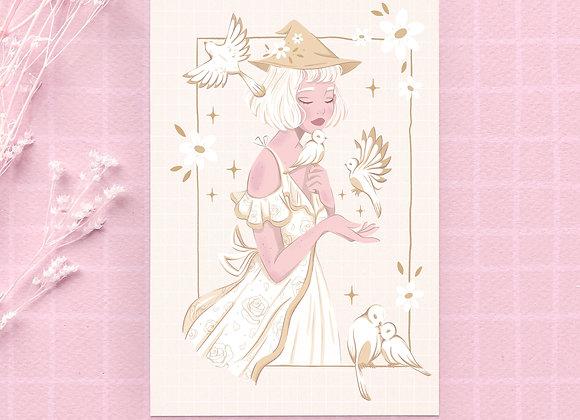 Carte postale - Sorcière blanche