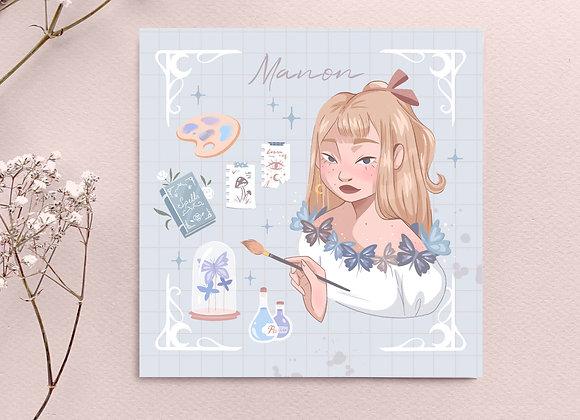 Square Card - Manon