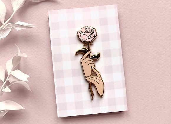 Pin - Flower in hands