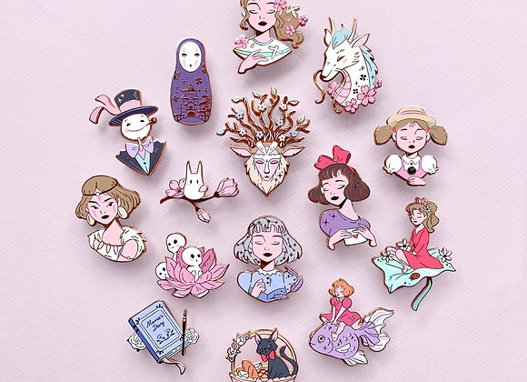 Lot complet - Pin's - Ghibli inspiration