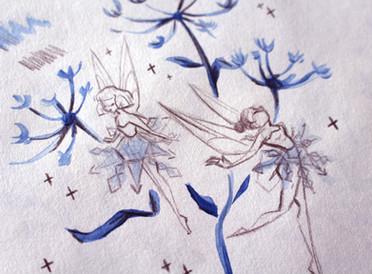 Winter fairies inspirées par Fantasia