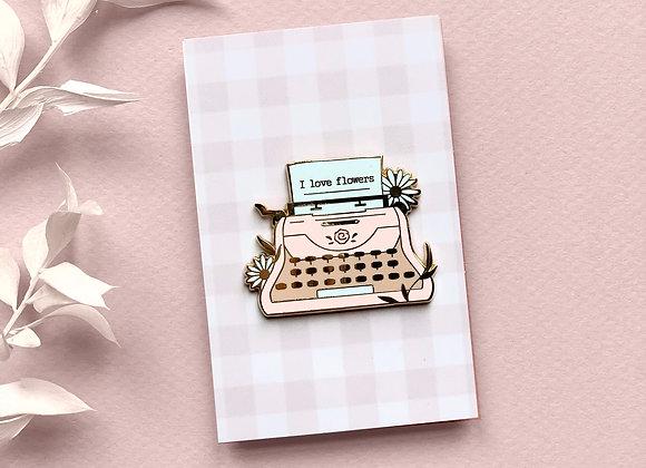 Pin - Typewriter