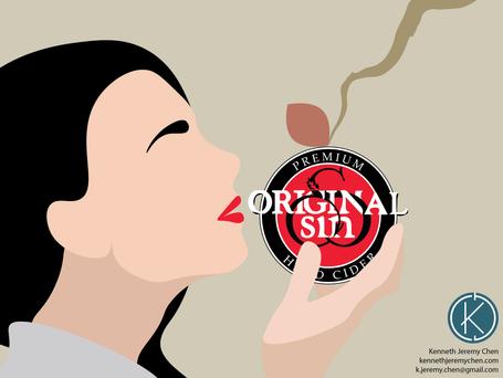 Mock Packaging Accessories for Original Sin Cider