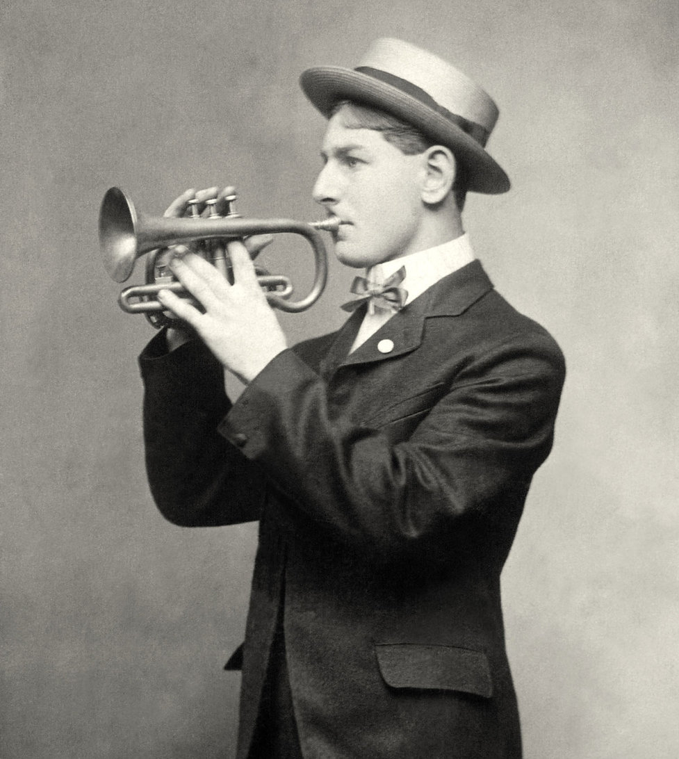 Vintage Trumpet Player