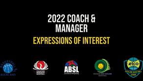 2022 Representative Coach and Manager EOI's