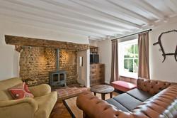 Living Room - wood burner