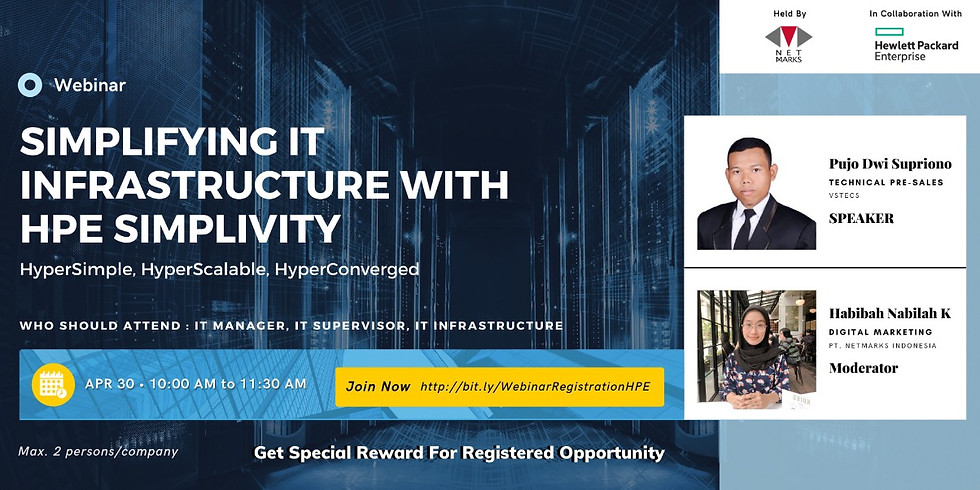 Webinar : Simplifying IT Infrastructure with HPE Simplivity