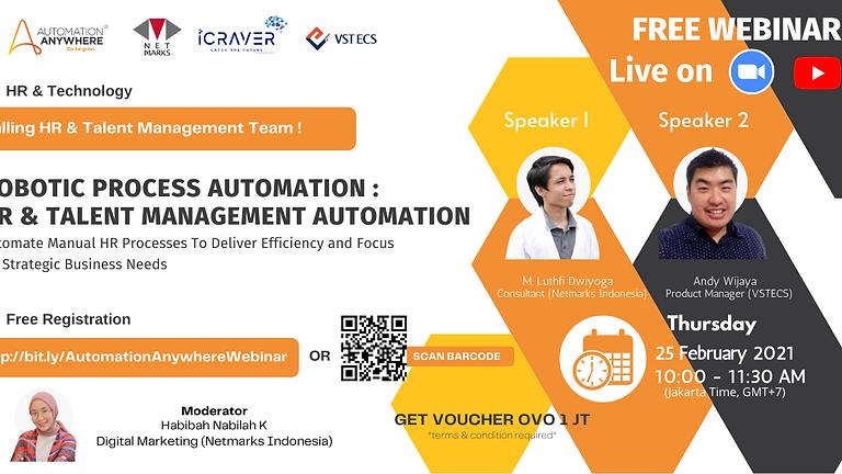 Webinar : Robotic Process Automation - HR & Talent Management Automation