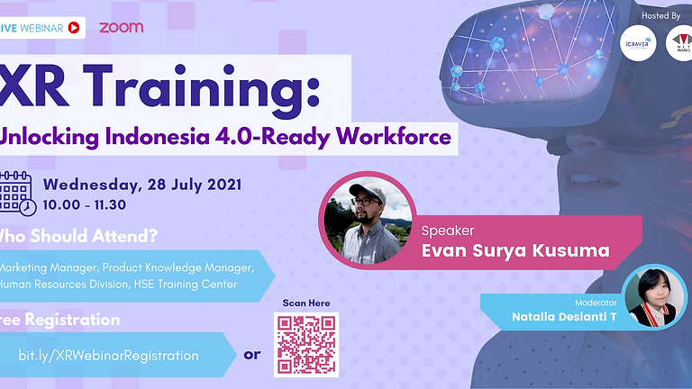 Webinar : XR Training: Unlocking Indonesia 4.0-Ready Workforce