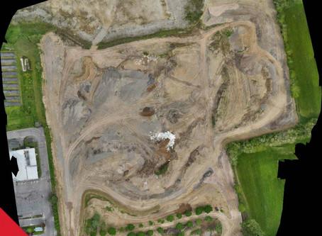 Monitoraggio dei volumi di una cava realizzato con drone