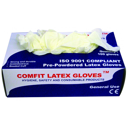 Comfit Powdered Latex Glove Large (Pkt 100)