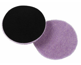 Lake Country 3 x 1 Inch  Purple Foamed Wool Buffing/Polishing Pad (Pkt 12)