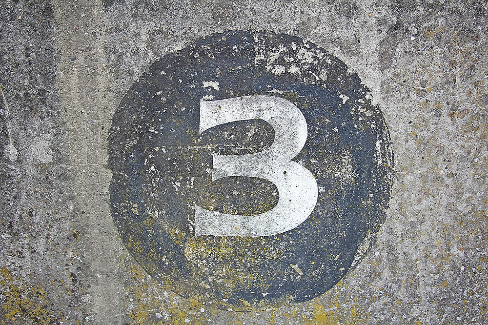 The number 3 is the beginning of a movement or entity