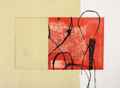 red aquatint