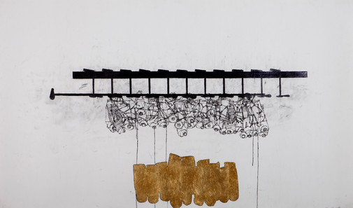 24349, Untitled, 2011, ink, graphite and gold leaf on paper, 106x180 cm.jpg