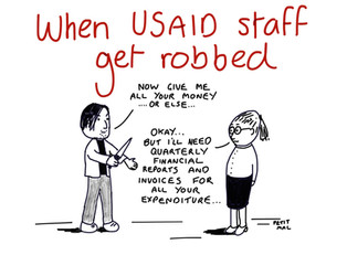 When USAID staff get robbed....
