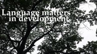 Language matters in development