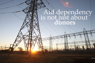 Aid dependency is not just about donors