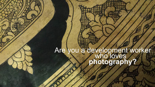 Are you a development worker who loves doing photography?