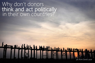 Why don't donors 'think and act politically' in their own countries?