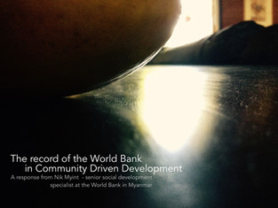 Community voice in community driven development: the record of the World Bank
