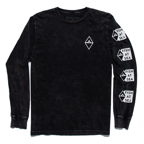 Stacked Logo | Mineral Black LS