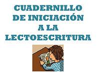 CUADERNILLO DE INICIACIÓN A LA LECTOESCR