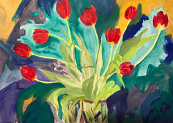 Red Tulips, 2018