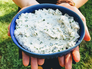GARLIC-HERB GOAT CHEESE DIP/SPREAD. (It's delicious.)