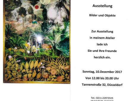 Ausstellung Sonntag 10.Dezember - Bilder und Objekte (12 bis 20 Uhr, Tannenstr. 32 Düsseldorf)