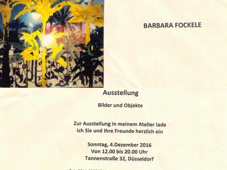 Ausstellung Sonntag, 4. Dez - Bilder und Objekte (12 bis 20 Uhr, Tannenstr. 32 Düsseldorf)