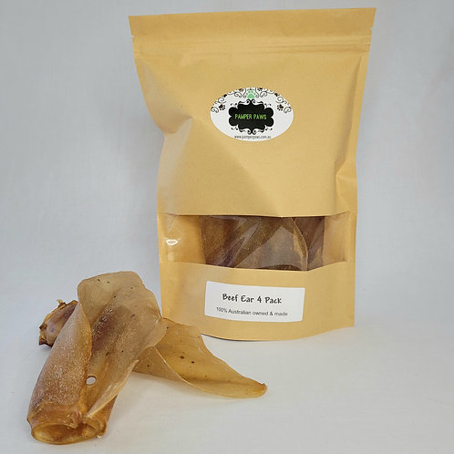 Pamper Paws Beef Ears 4 Pack