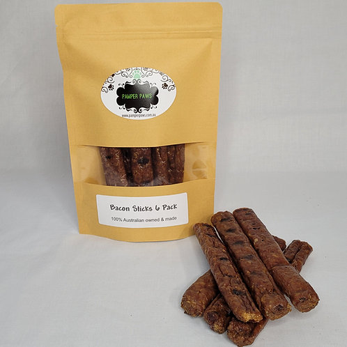 Pamper Paws Bacon Sticks 6 Pack