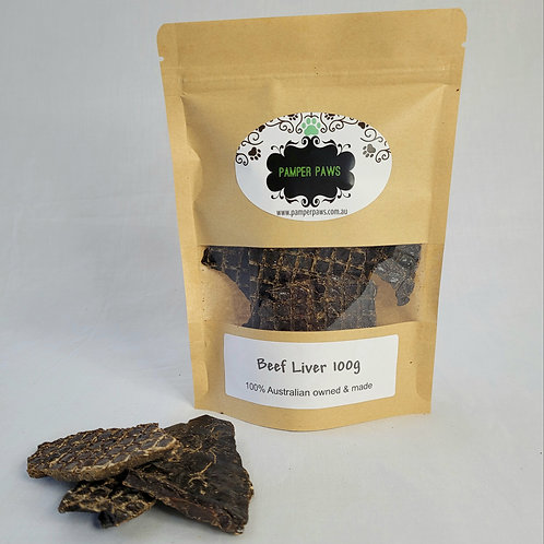 Pamper Paws Beef Liver 100g