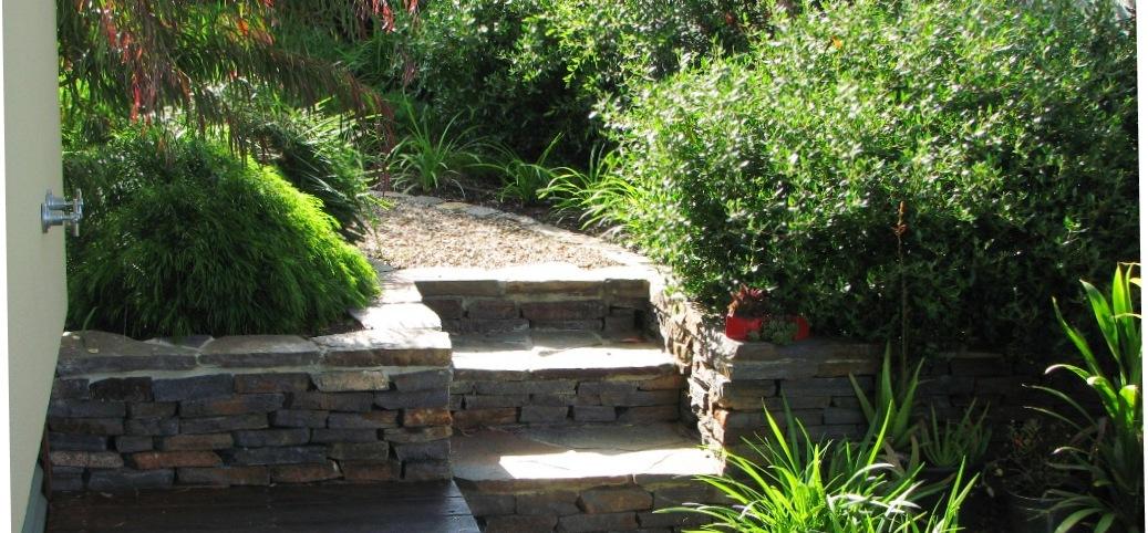 Drystone steps
