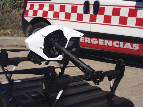 Ya podemos ofrecer servicios de Drone, vinculado a emergencias.