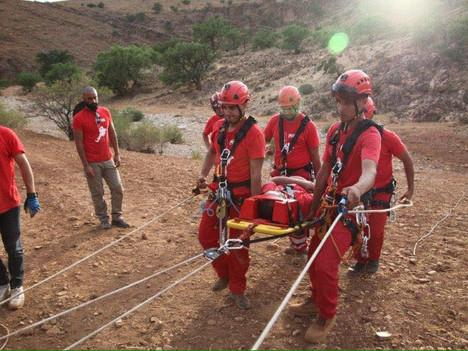 Nuestra colaboración con el equipo de rescate perteneciente a la Cruz Roja de Taroudant, en este ter