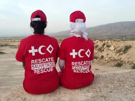 Colaboración con la Media Luna Roja de Marruecos para la formación de un grupo de rescate en la ciud