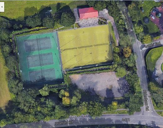 Aerial view of Tennis club