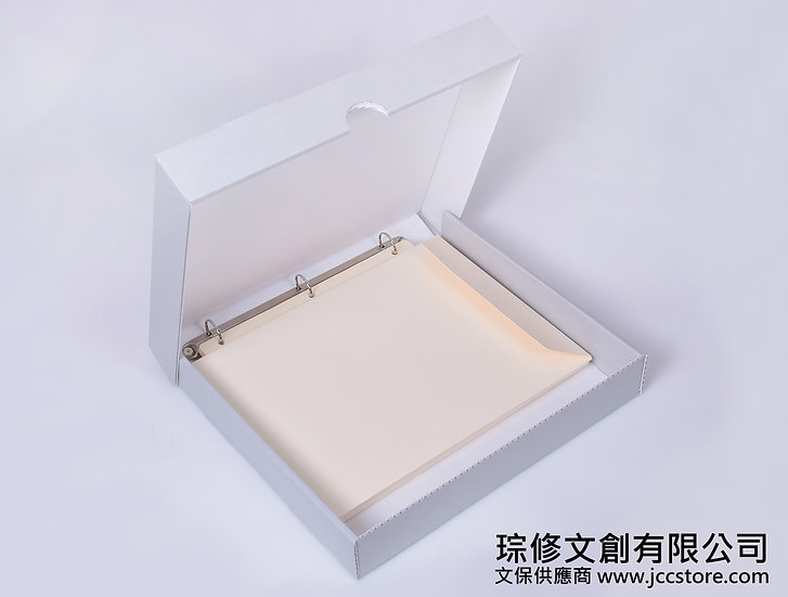 3孔無酸資料夾保護盒(含10個無酸信封袋)