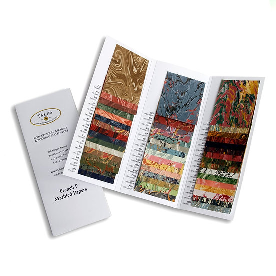 法式大理石紋紙 樣本冊 French P Marbled Paper Sample Book