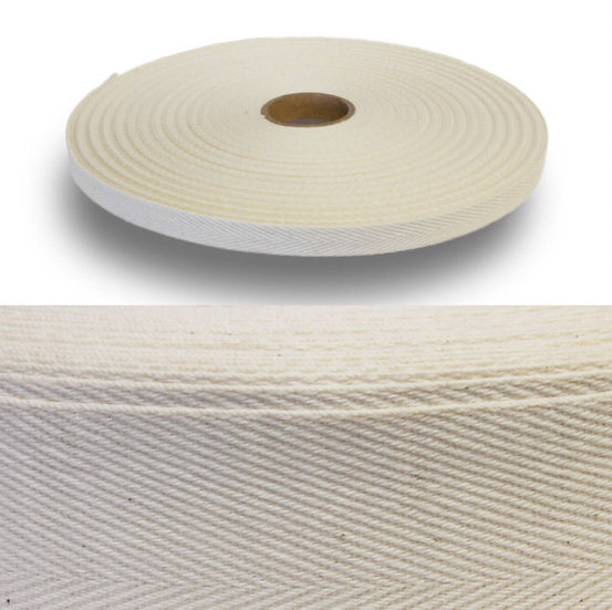 無酸棉質綁帶 - 斜紋  Cotton Tape - Twill Weave