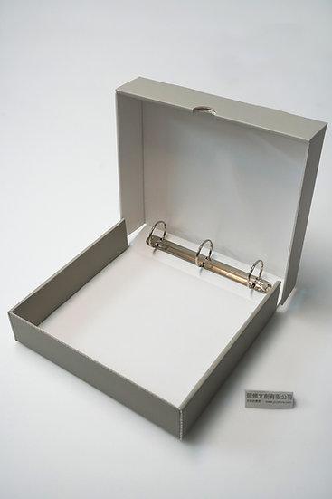 無酸三孔資料夾保護盒 Boxed Ring Binder
