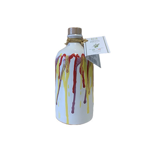 Orcio 500 ml sgocciolato rosso giallo