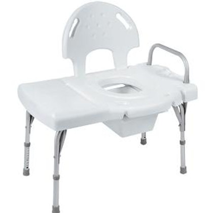 Heavy-Duty Transfer Bench with Commode