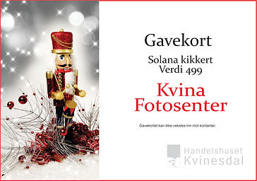 Gavekort Kvina Fotosenter Julekalender`n