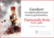 Gavekort Farsunds Avis Julekalender`n Kv