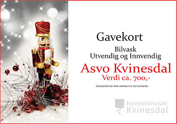 Gavekort asvo Julekalender`n Kvinesdal.j